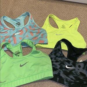 Nike pro sports bras.